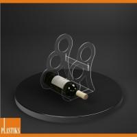 porte bouteilles acrylique support pour les bouteilles de vin support pour le vin. Black Bedroom Furniture Sets. Home Design Ideas